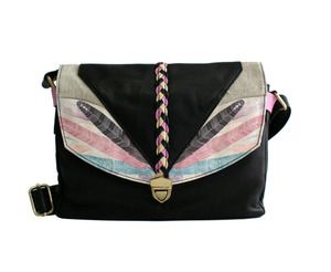 DUSKDREAM Collection Heidi Bag : Feathers : Black