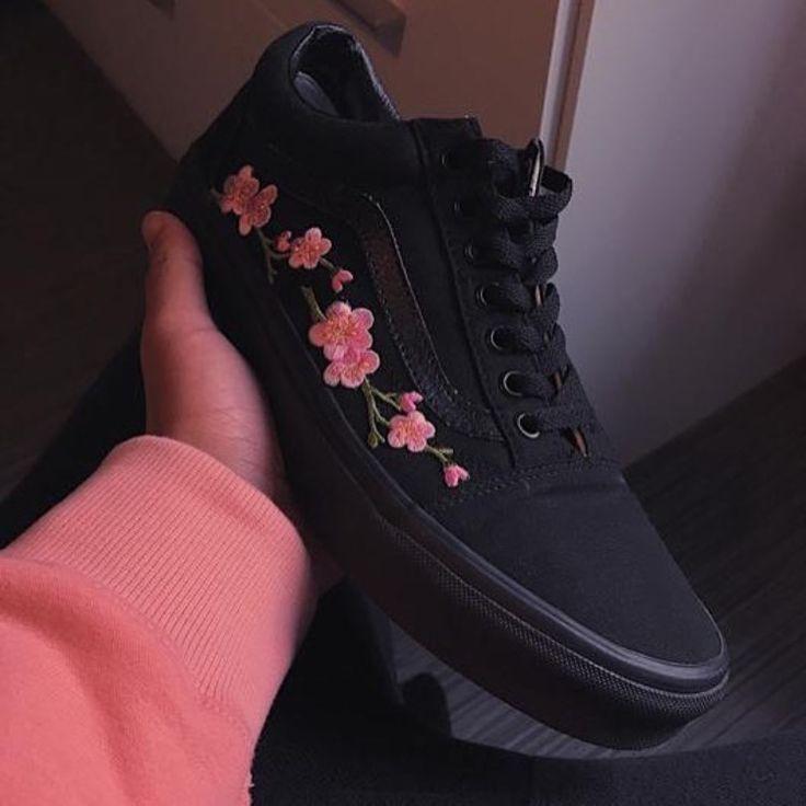 basket vans fleur