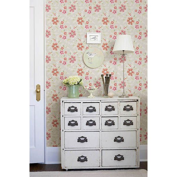 Street Prints Elsie Floral Wallpaper   Wallpaper At Hayneedle