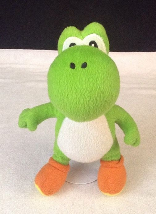 "Super Mario Nintendo 9"" Yoshi Stuffed Plush Toy by Goldie Marketing 2010 #Nintendo"