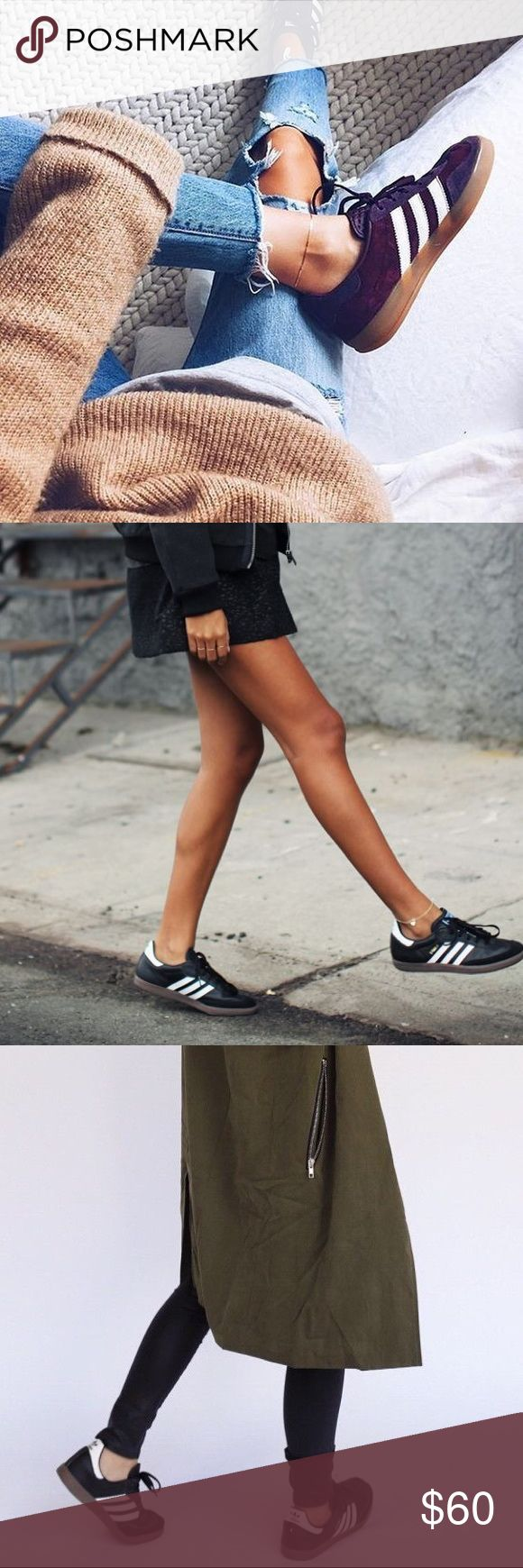 Adidas Samba Sneakers Gently worn only a couple times. Will have minor marks as they are not new, but nothing noticeable. Marked as a Men's size 6. Would best fit Woman's size 7.5-8. Tags: LF, Urban Outfitters, Ragged Priest. Adidas Shoes Sneakers