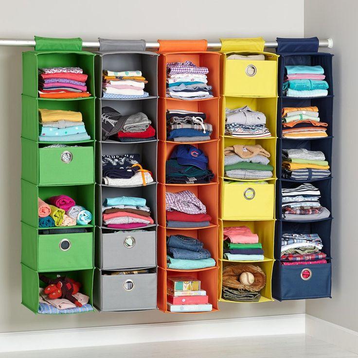 Best 25 baby clothes storage ideas on pinterest for Nursery hanging storage