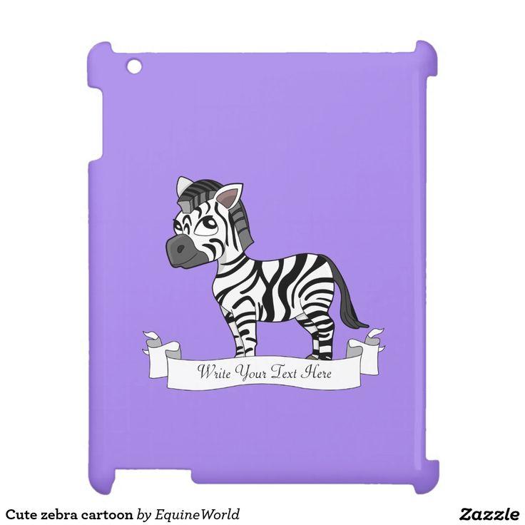 Cute zebra cartoon case for the iPad
