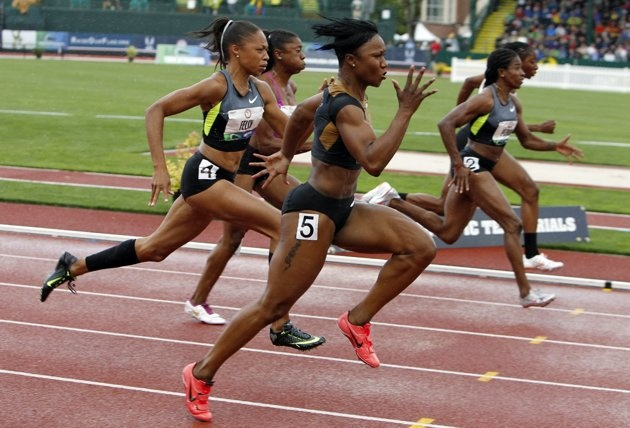 For instant motivation to bust more ass, take a closer look at Carmelita Jeter's amazing quads.