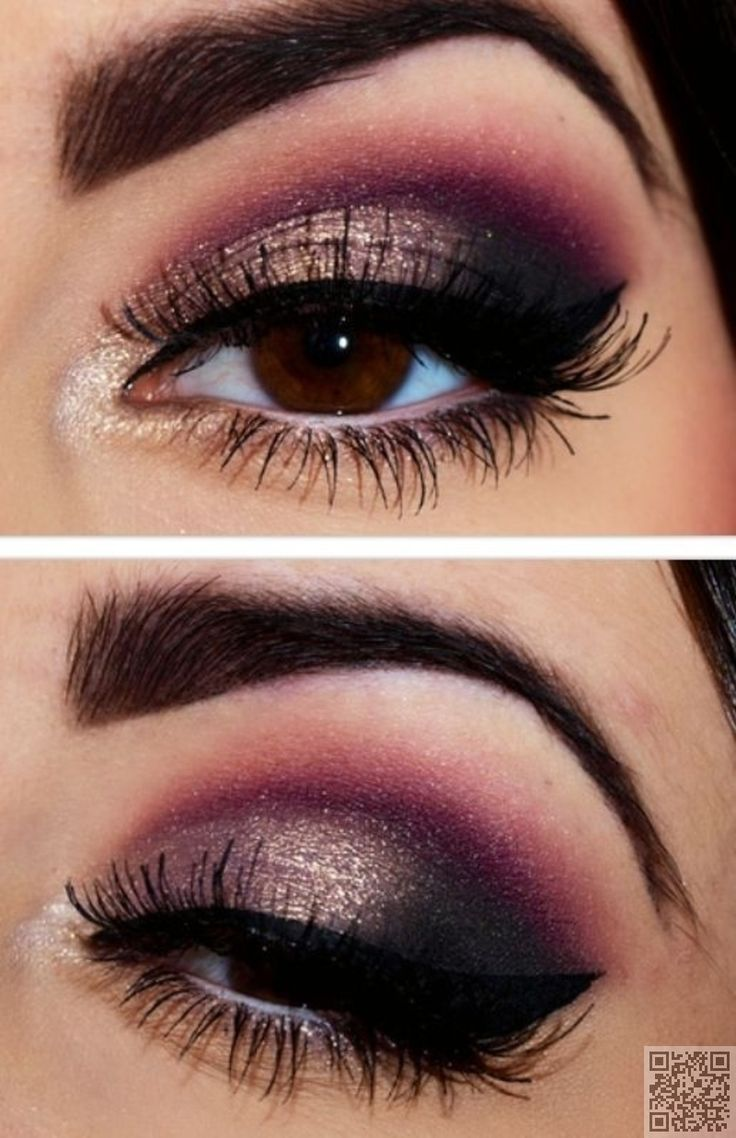 Dramatic makeup for brown eyes
