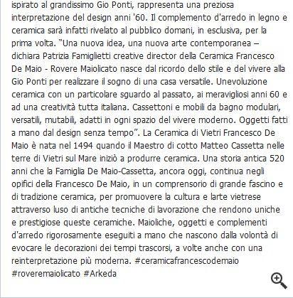 #Arkeda | Ceramica Francesco De Maio | #vietriceramic su www.tegels