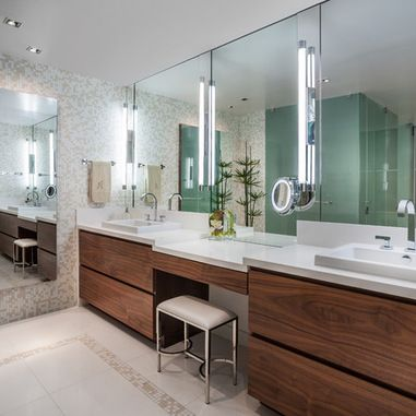 Model With The Minty Sage Desk And The Goldenframed Mirror, You Get A Feminine And