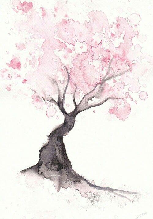 Watercolor tree. Artist ?