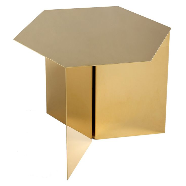Slit Hexagon bord, messing/speilglass i gruppen Møbler / Bord / Sidebord & Småbord hos ROOM21.no (132084)