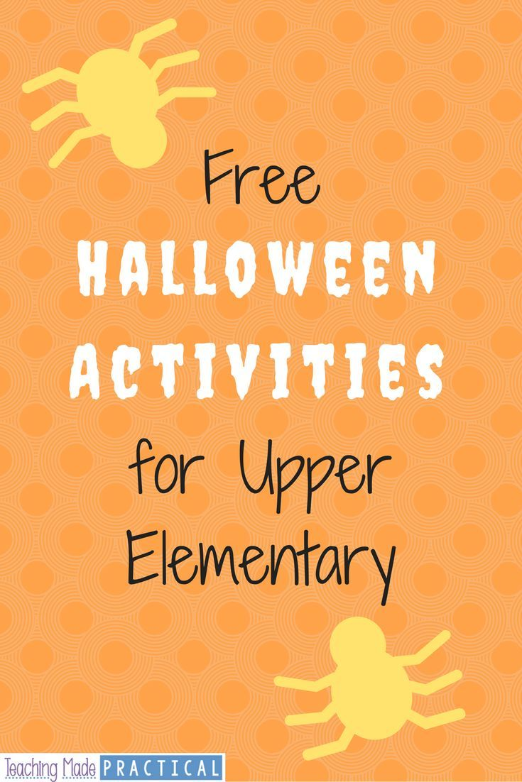 Free Halloween activity ideas for 3rd grade, 4th grade ...