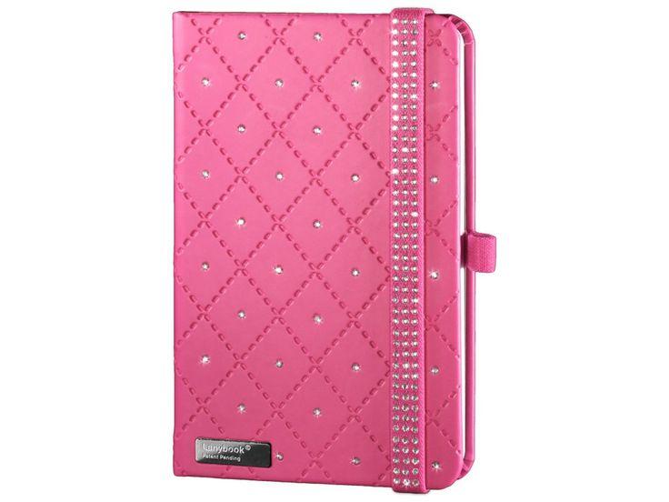 Elegantní Diamond je luxusní dámský zápisník v růžovém provedení posázený krystaly Swarovski. Kromě dokonalého vzhledu upoutá i perfektním zpracováním.