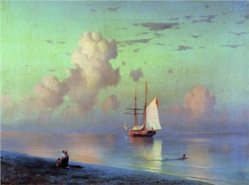 Sunset - Ivan Aivazovsky,1866.  My breath actually caught in my throat seeing this.  Superb!