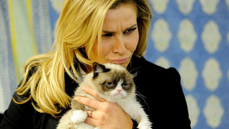 Natalya and Grumpy Cat