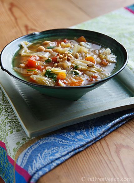 Cabbage and chickpea soup - I made this for my lunches last week. I added salt and garam masala, and I substituted the pinenuts with walnuts (adding nuts to soup is a BRILLIANT idea, by the way...it adds texture and crunch, not to mention protein).
