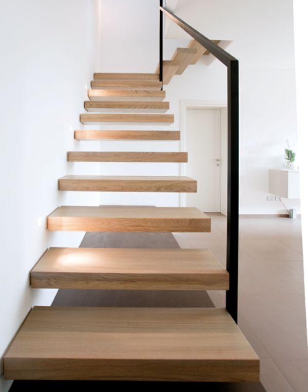 Scale a giorno a sbalzo in legno - Ghost - Alfa Scale