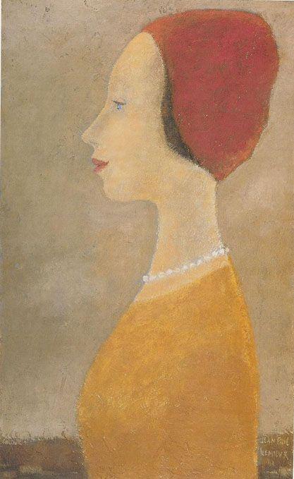 """Jean-Paul Lemieux """"  Portrait de profil  """""""