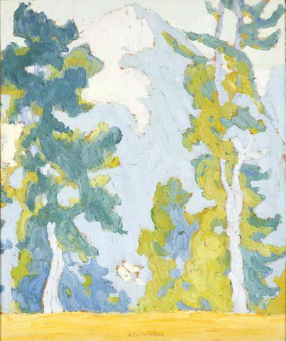 Spyros Papaloukas (Greek, 1892-1957) View of Parnassus