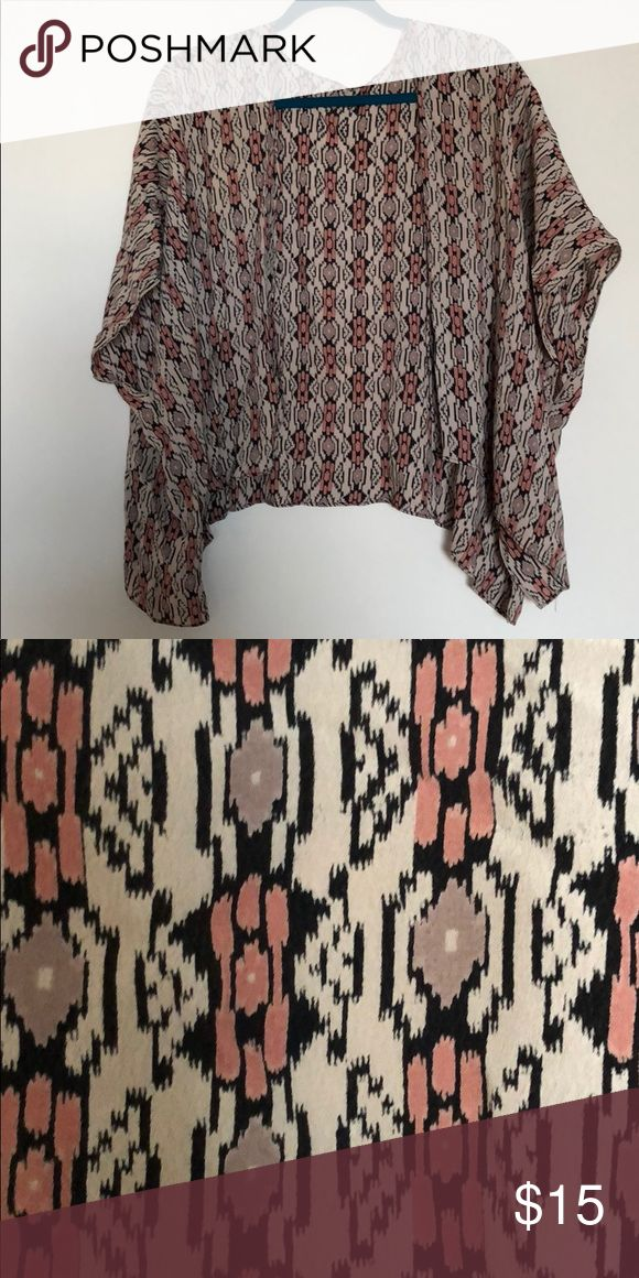 Brandy Melville Cardigan excellent condition! cardigan shall with tribal print Brandy Melville Sweaters Shrugs & Ponchos