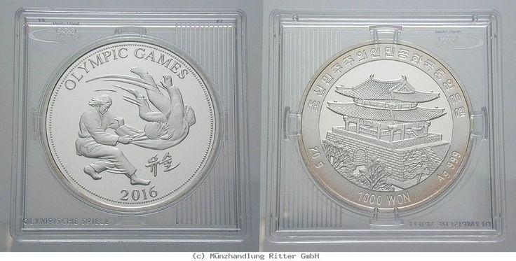 RITTER Südkorea, 1000 Won 2016, Olympische Spiele Rio de Janeiro 2016, PP #coins #numismatics
