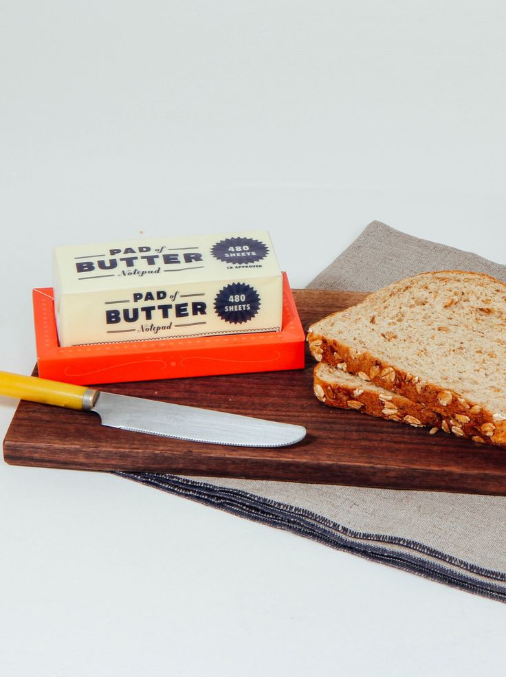 Can't believe it's actually not butter...but a notepad.