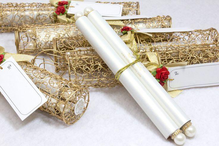 Khmer Wedding. Our scroll invitation