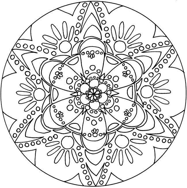Free Printable Spiritual Mandala Coloring