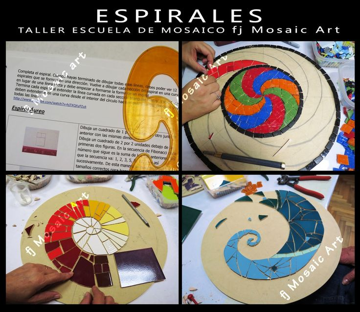 MOSAICO CREATIVO de fj Mosaic Art: TALLER DE ESPIRALES EN MOSAICO
