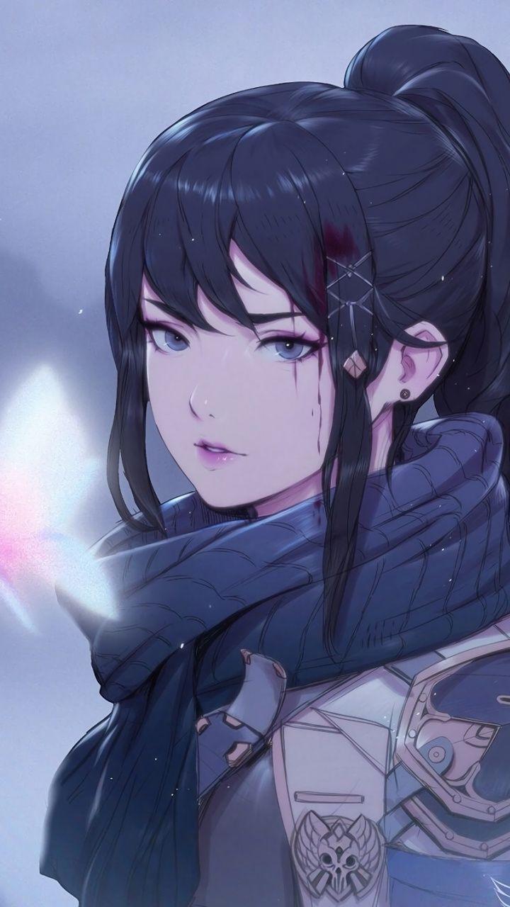 Gorgeous woman, beautiful soldier, art Wallpaper  Anime best
