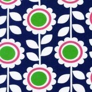Flower Blue jersey, Robert Kaufman -bambiblauw