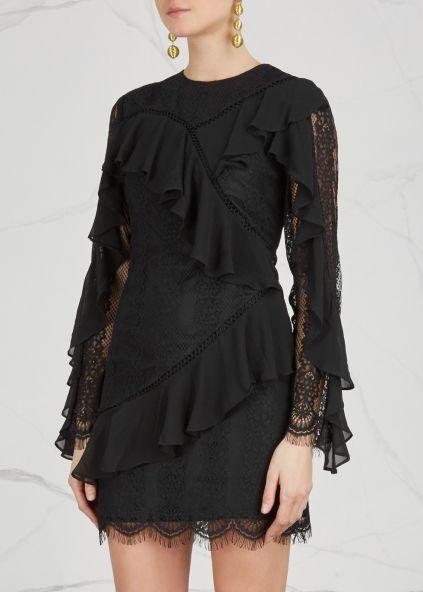 KEEPSAKE Better ruffled-trimmed lace dress - Harvey Nichols
