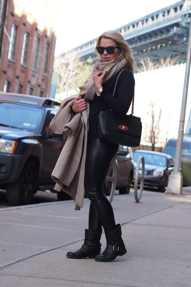 Reiss Evia Coat Louis Vuitton Monogram Scarf Mulberry Medium Cecily Biker boots  http://www.yummyjenni.com