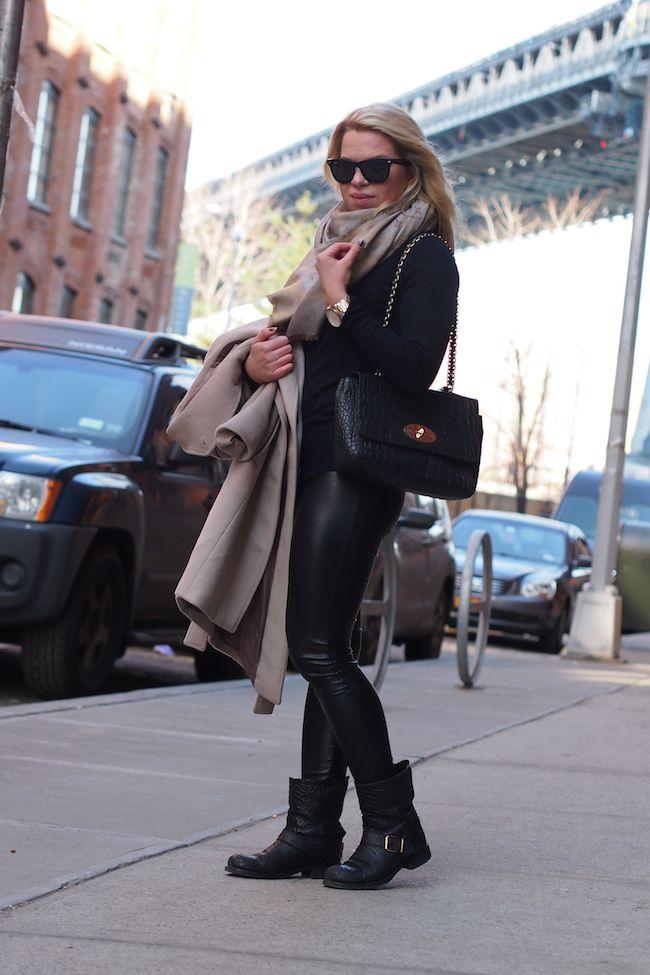 Reiss Evia Coat Louis Vuitton Monogram Scarf Mulberry Medium Cecily Biker boots  http://www.yummyjenni.com