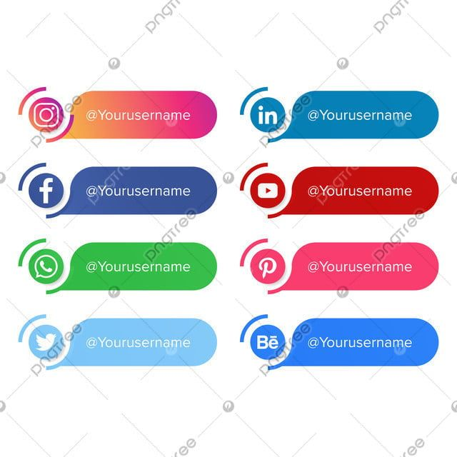 Social Media Lower Third Vector Design Social Media Clipart Lower Third Png And Vector With Transparent Background For Free Download Lower Thirds Social Media Vector Design
