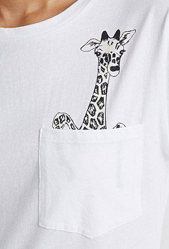 Giraffe Pocket Tee | Forever 21 - 2000077762