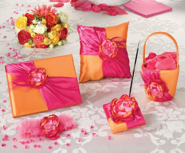 Prepack Hot Pink & Orange Collection (Lillian Rose PP830) | Buy at Wedding Favors Unlimited (http://www.weddingfavorsunlimited.com/prepack_hot_pink_orange_collection.html).