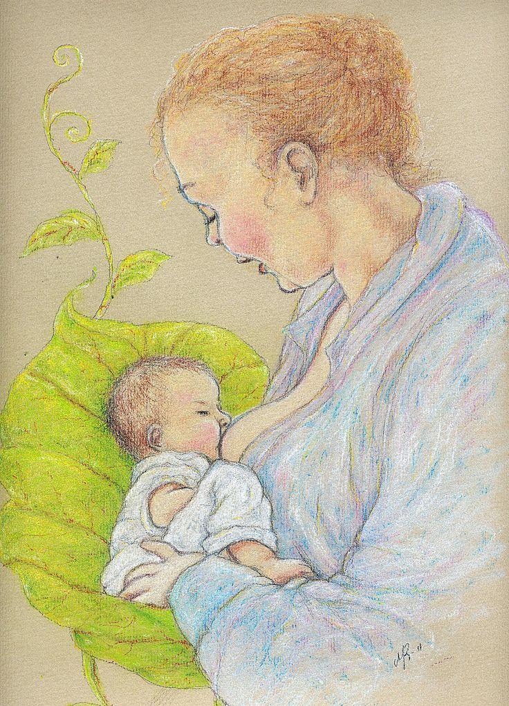 Äiti ja lapsi-Kynätyö
