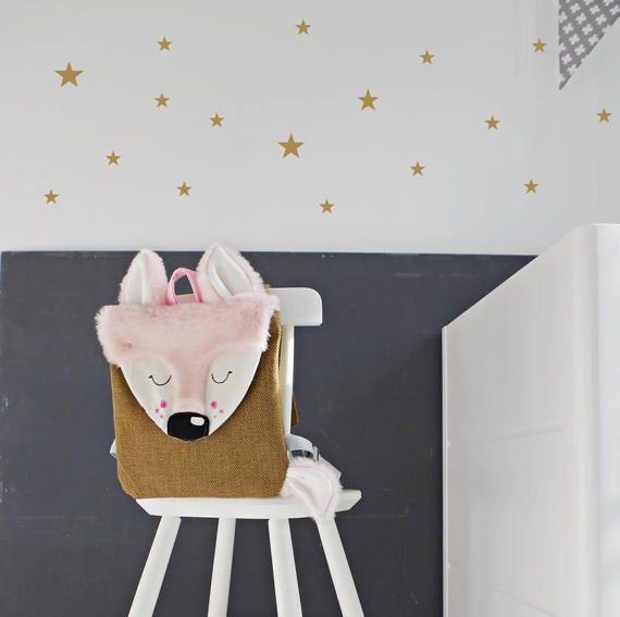 Little Roe backpack,kids backpack,animal backpack,design babies gift,vegan bag,canvas bag,kids mam bags,toddler backpack,roe bag,pink bag