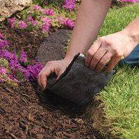 Recycled Rubber Mulch Edging Str*P Red 8Ft X 4 5In 400 x 300