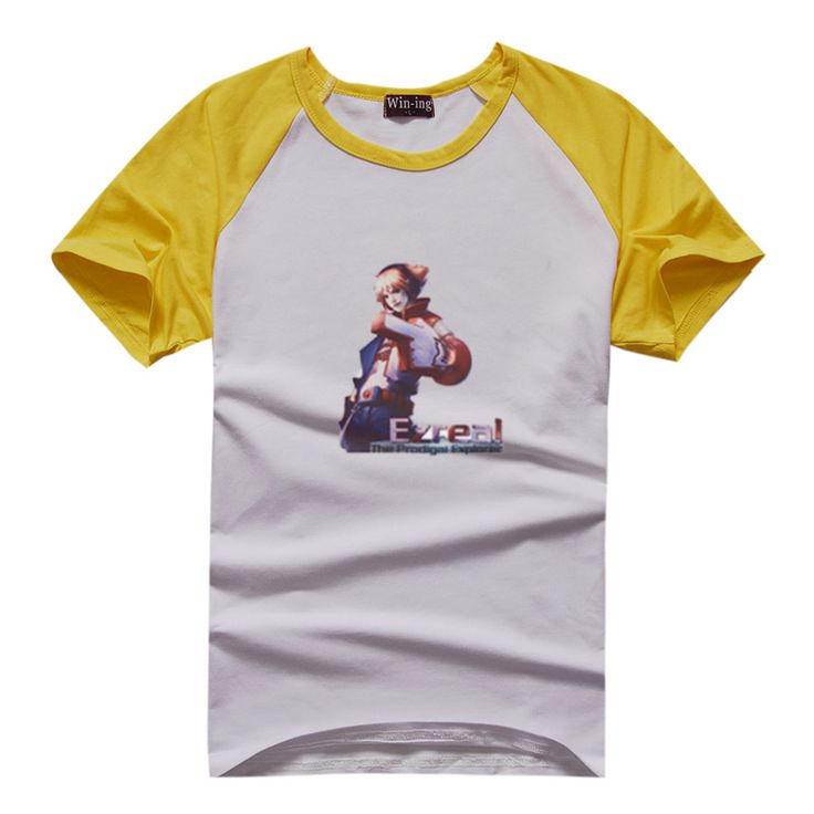 TPA Ezreal Manches Courtes T-shirts raglan couleur (6 couleurs) TPA Ezreal Manches Courtes T-shirts raglan couleur [LOL 00008]