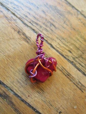 Ciondolo cuore rosso