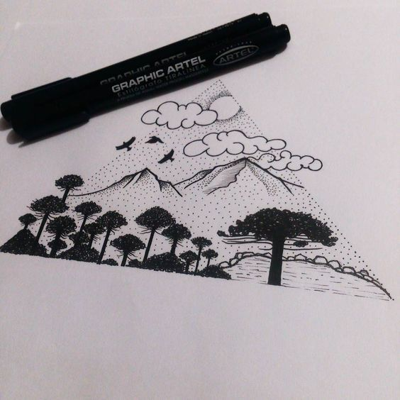 On instagram by _aramoonlight_ #landscape #contratahotel (o) http://ift.tt/1Tbq6Kj Diseñando full la magia está en crear  Citas / Appointments 56974064734  #Landscape #LineWork #BlackWork #TattooDesign #TattooSketch #day #TattosCute #Geometry #Araucarias #FollowMe #follow4follow #PhotoOfTheDay #Drawing #ILoveMyJob #Happiness #Dotwork #Puntillismo #Puntinato #MyWork #AmazingArt #Art #Artwork #Artists #Unique #Tattooer #TattooArtist #Tattooist #Tattoo2me #Chile: