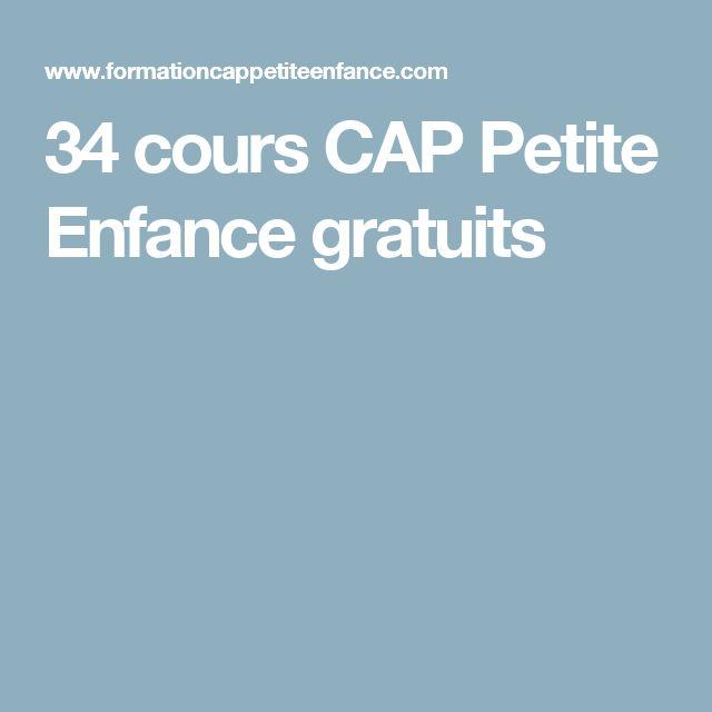 34 cours CAP Petite Enfance gratuits