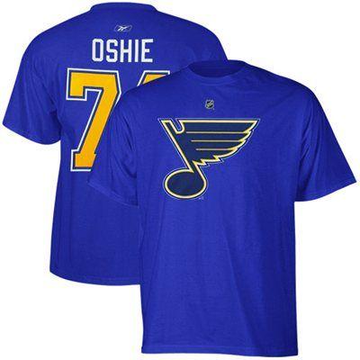 Mens St. Louis Blues TJ Oshie Reebok Royal Blue Name & Number T-Shirt