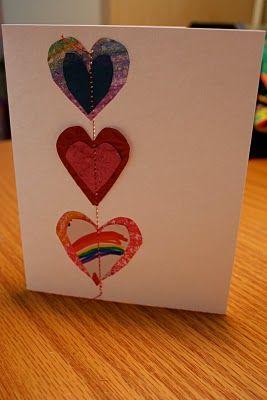 DIY Stitched Valentine's Day Cards