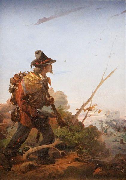 Gerolamo Induno - Volontaire des légions de Galibaldi lors du siège de Rome - 1849