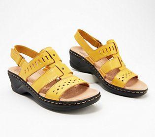 """""""As Is"""" Colección de sandalias de cuero de la colección Clarks – Lexi Qwin – QVC.com   – Products"""