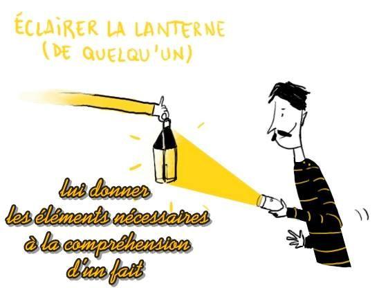 EXPRESSIONS FRANÇAISES  Éclairer sa lanterne
