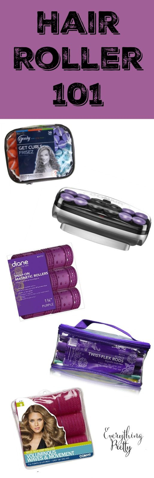 Different Types of Hair Rollers And How to Use Them | Everything Pretty via www.yourbeautyblog.com