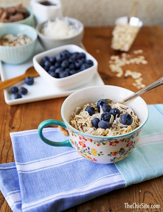 No-Cook Overnight Oatmeal // healthy, gluten-free breakfast