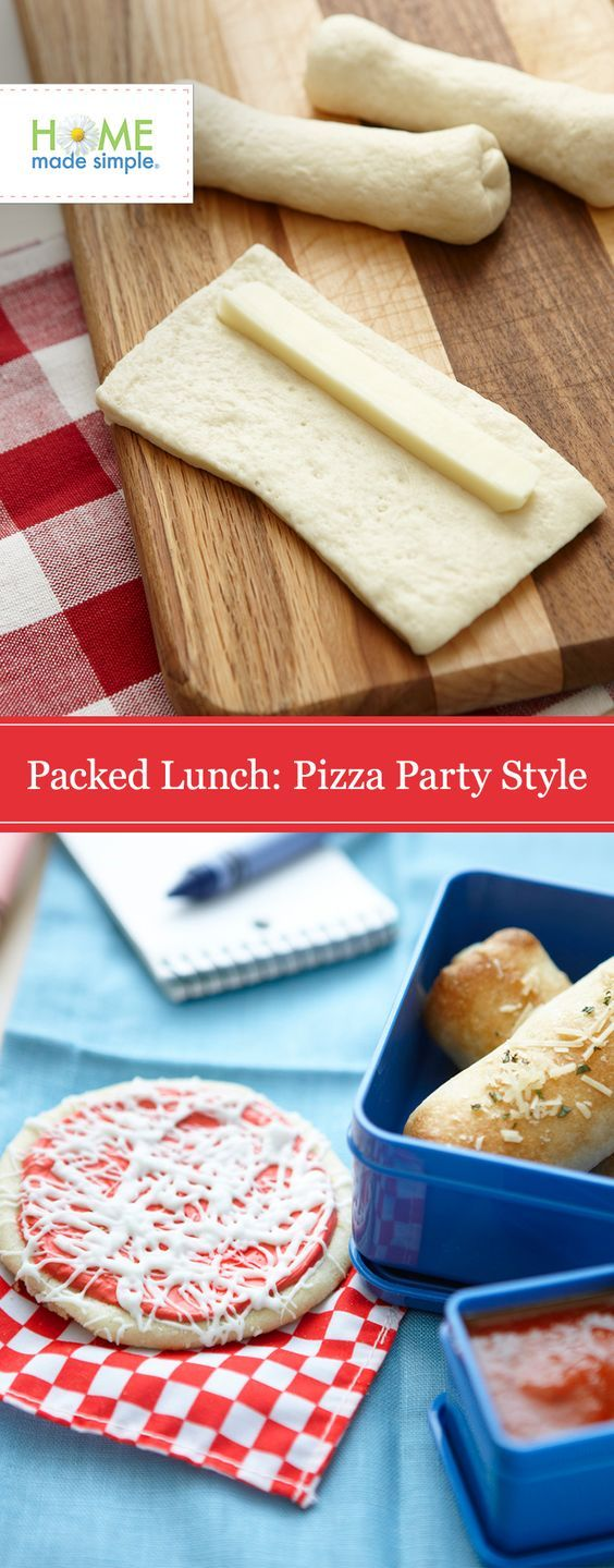 Get creative with your kid's lunches! Skip the sandwich and try this fun and easy pizza party packed lunch that your kids are sure to love and won't take any extra time!
